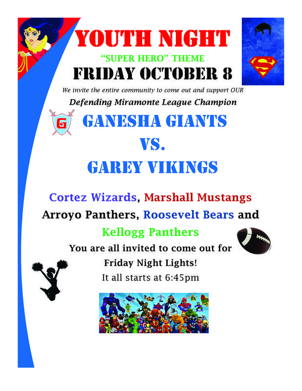 GHS youth night flyer
