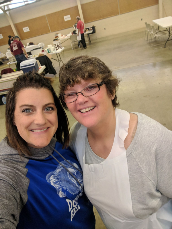 Jenn and Judy at the chili cookoff