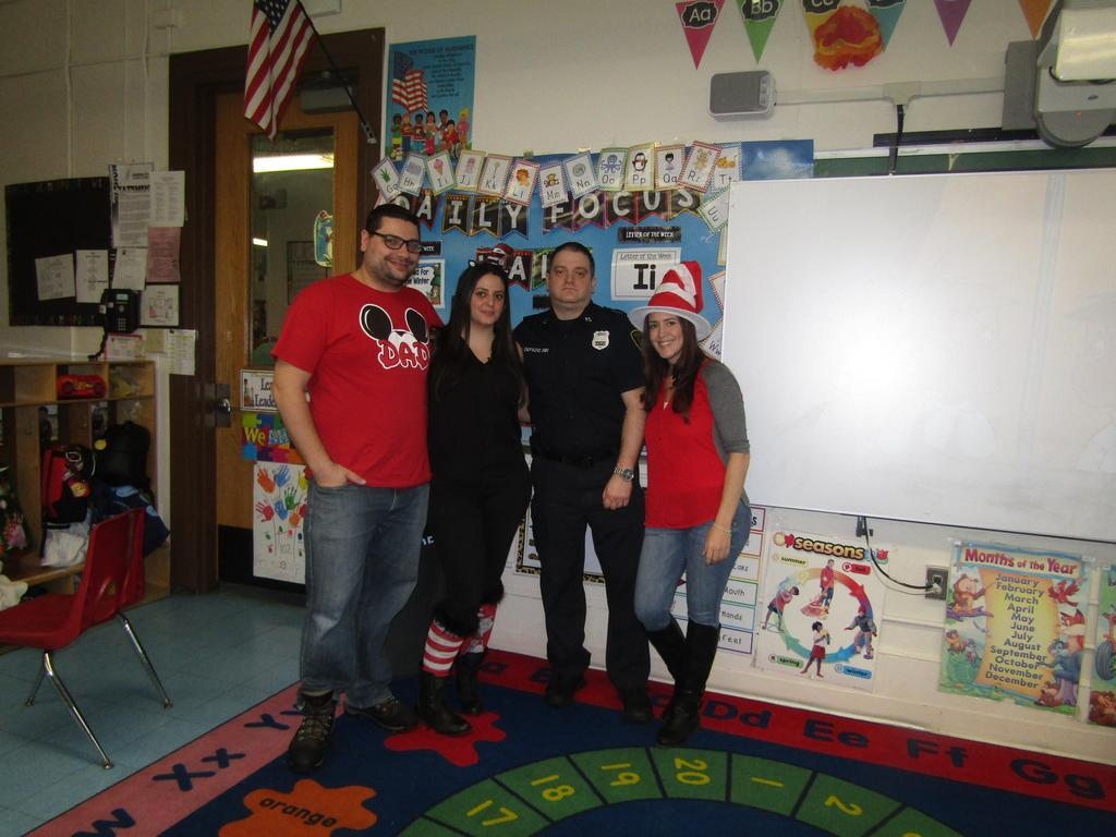 uc pd defazzio with petric and two female teachers