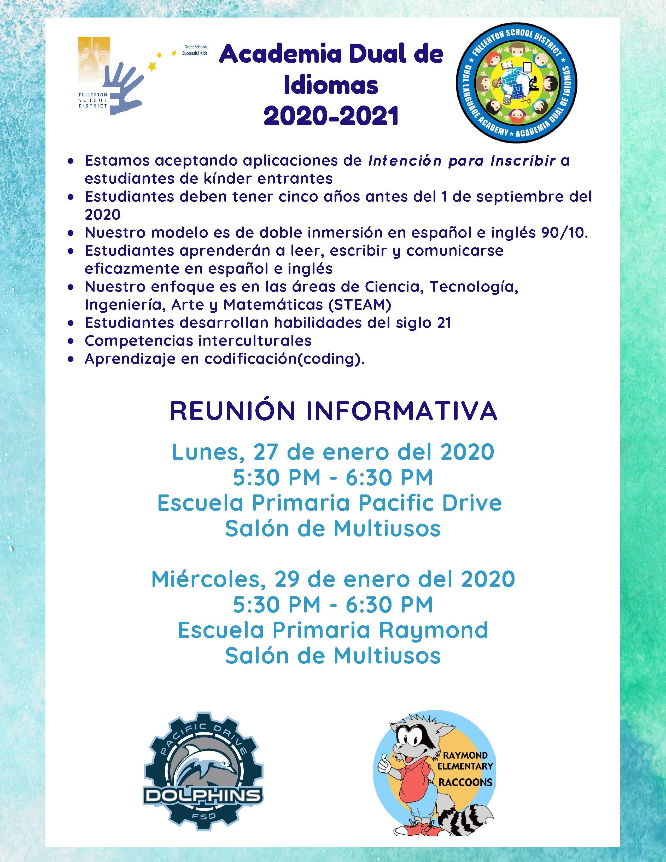DLA Parent Meeting Flyer Spanish