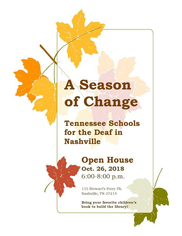 A Season of Change - TSDN Open House Flyer Image