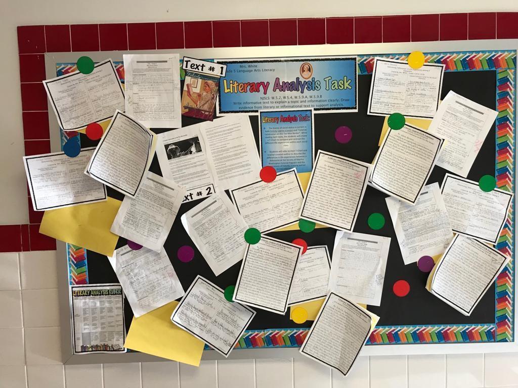 literary analysis writing activity display