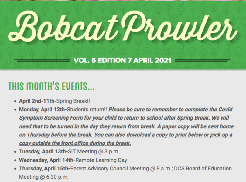 April Bobcat Prowler