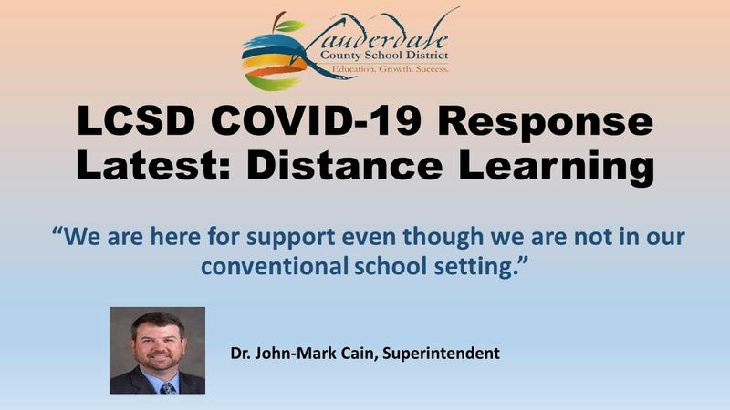 Superintendent's Message Distance Learning