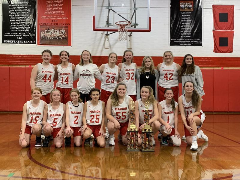 Marion Middle School Lady Canes basketball team