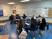 Mrs. Hill's class working on