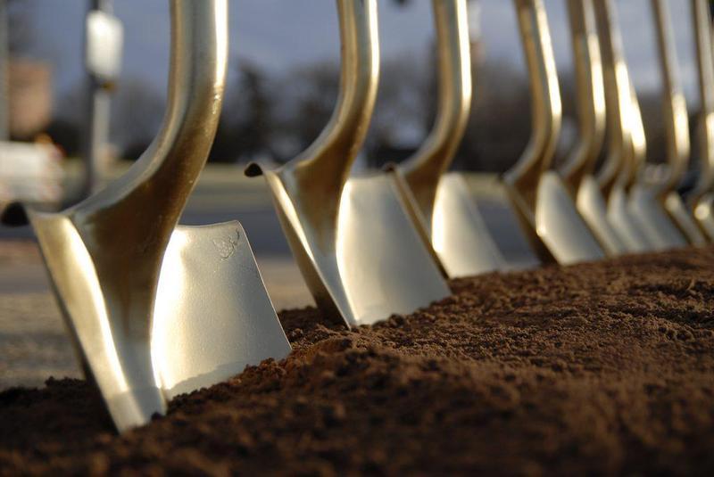 Shovels breaking ground