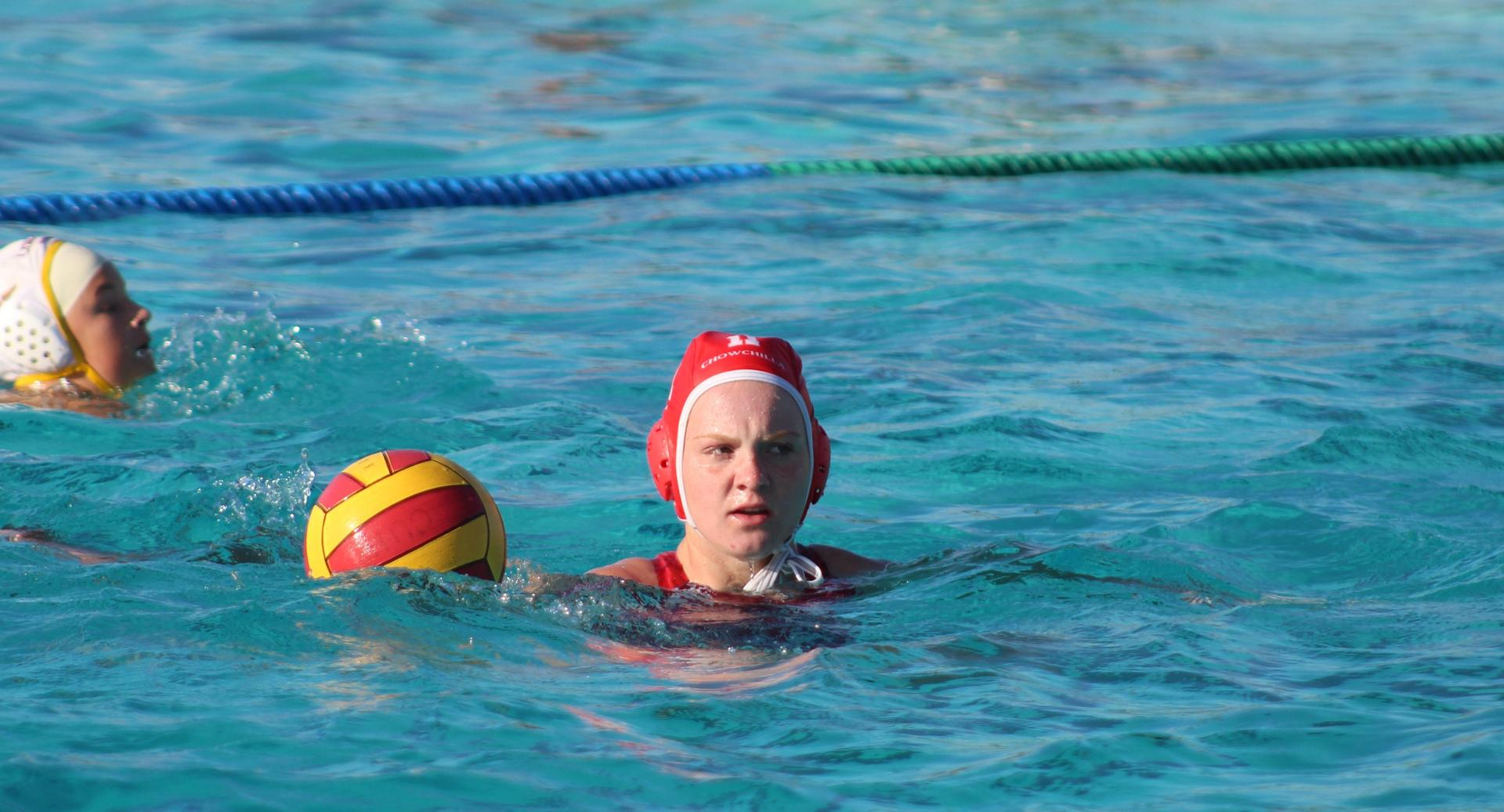 Girls playing water polo against Sierra