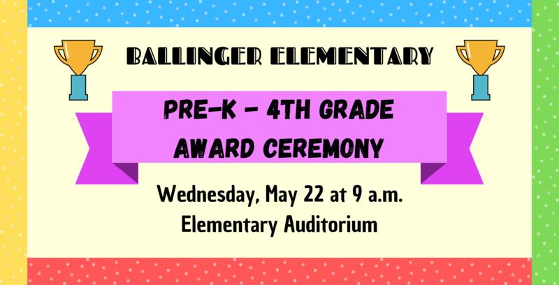 Pre-K - 4th Grade Award Ceremony