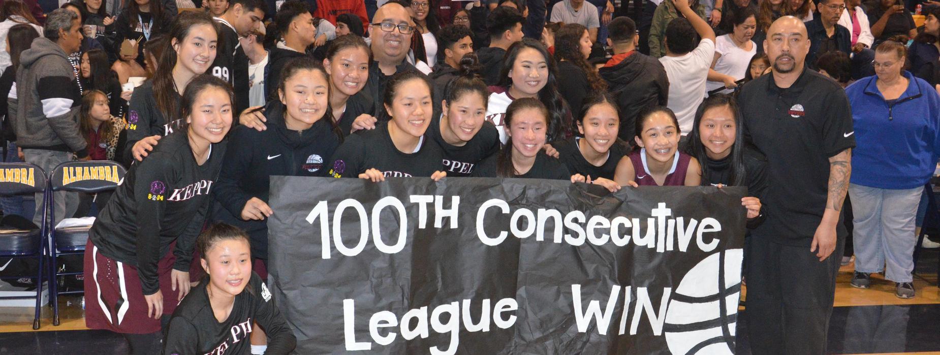 MKHS Girls Basketball 100th consecutive league win