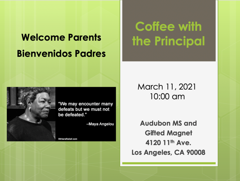 Coffee with the Principal - March 11 Featured Photo