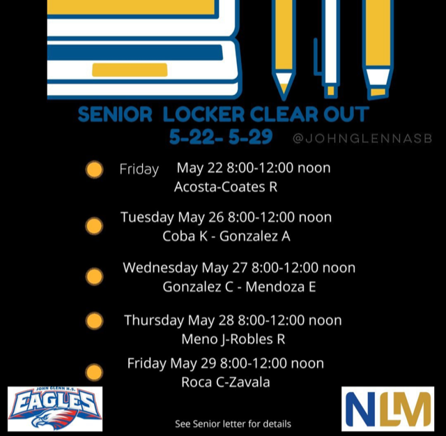 Senior Locker Clear Out- Begins Friday, May 22nd Featured Photo