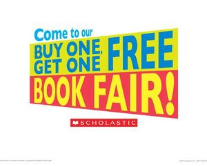 sign buy one get one free at the book fair