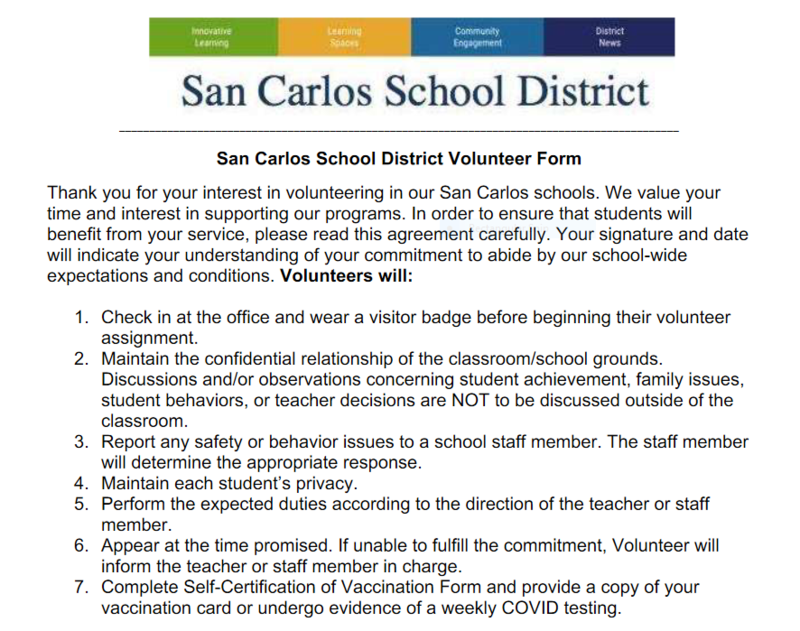 Parent Volunteers: Don't Forget the Forms Featured Photo