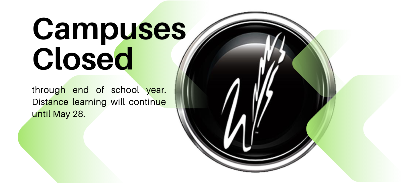 black feather w button with campuses closed message