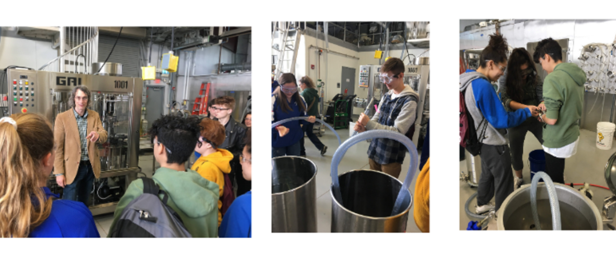 3 images of students at ag career day