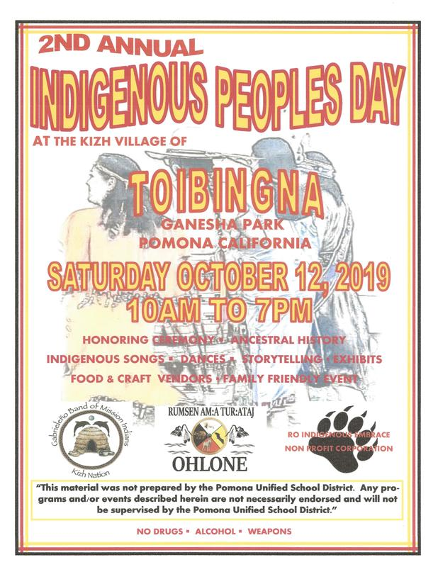 2nd Annual Indigenous Peoples Day
