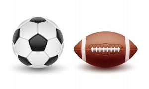 soccer ball and football photo