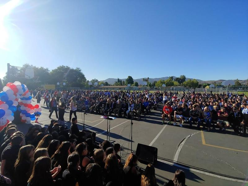 Dartmouth Middle School's Patriot Day Celebration