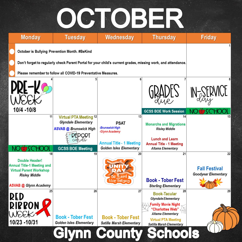 October PFE Events