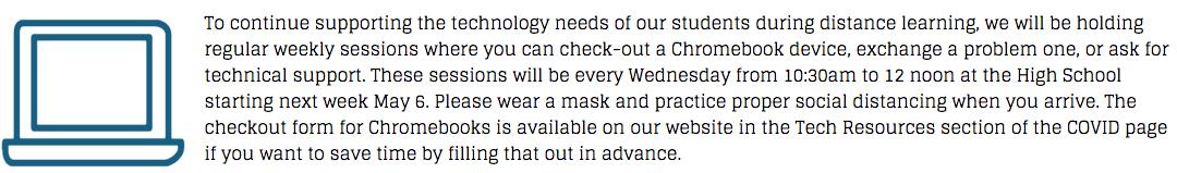 english- chromebook announcement