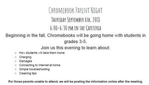 Chromebook Parent Night!