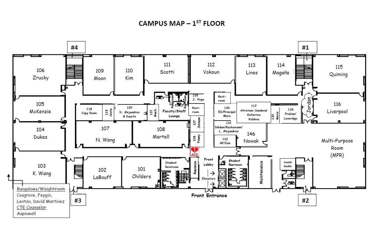 Campus Map floor 1