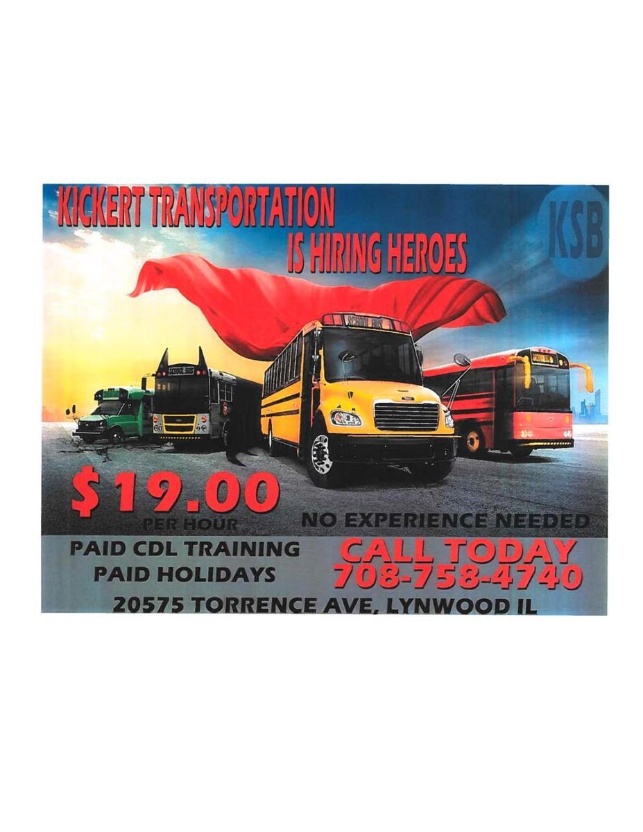 Kickert bus drivers wanted