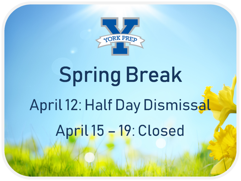 Closed for Spring Break 4/15-4/19 Featured Photo