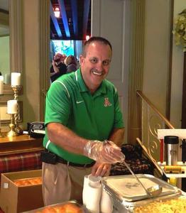 Supt. Smith serving food
