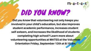 Did You Know - September 11 2019 - Volunteer Orientation.jpg