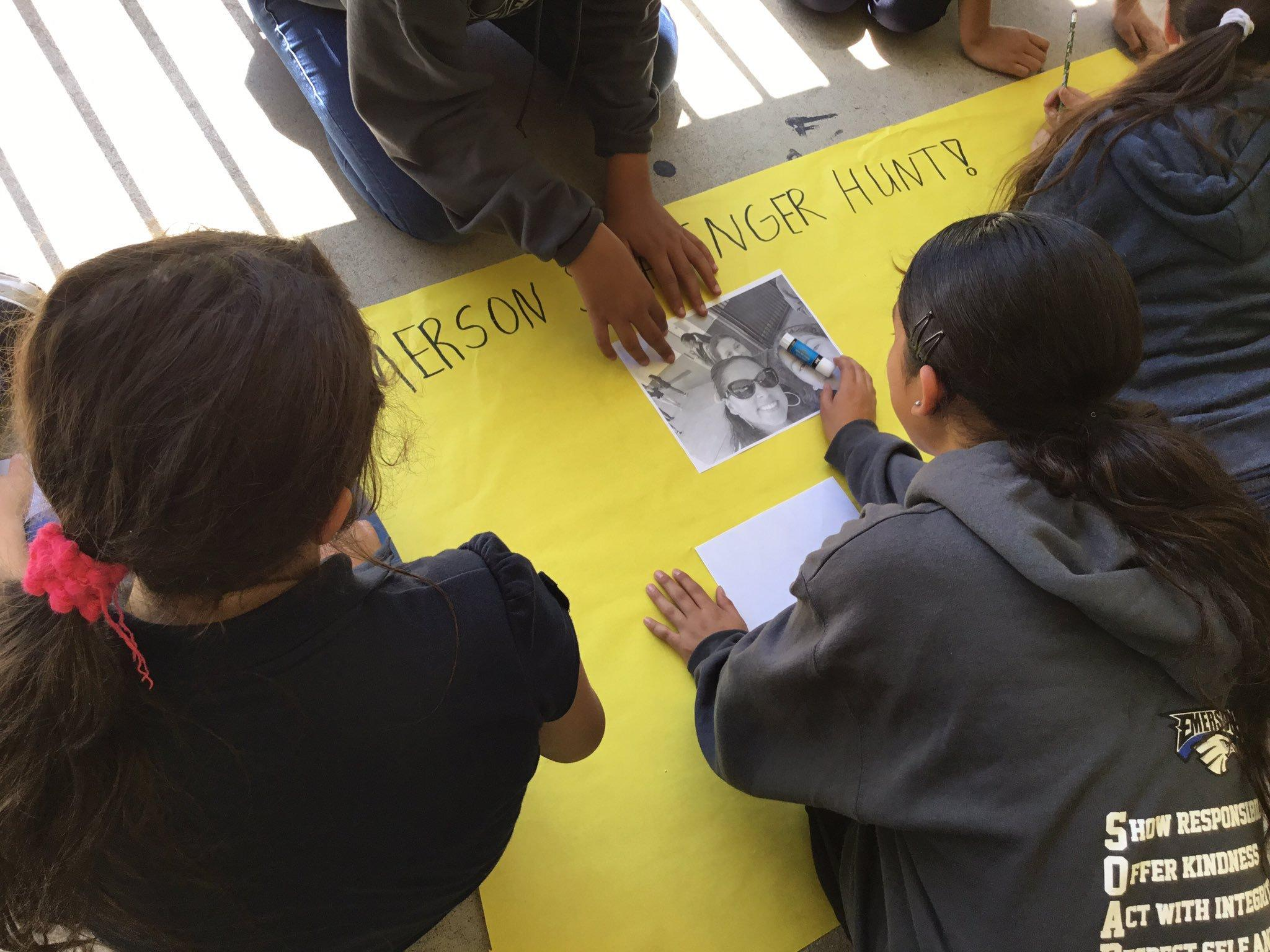 Emerson students are focused on AVID Strategies for Success, they made posters of self-portraits right after they practiced their professional handshakes. #THISISAVID #Proud2bePUSD #AVID #EmersonEAGLES