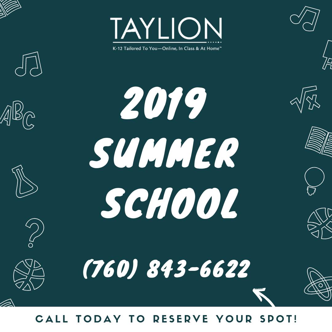 2019 Summer School Flyer