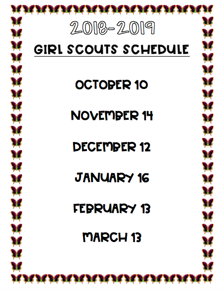 girl scout schedule