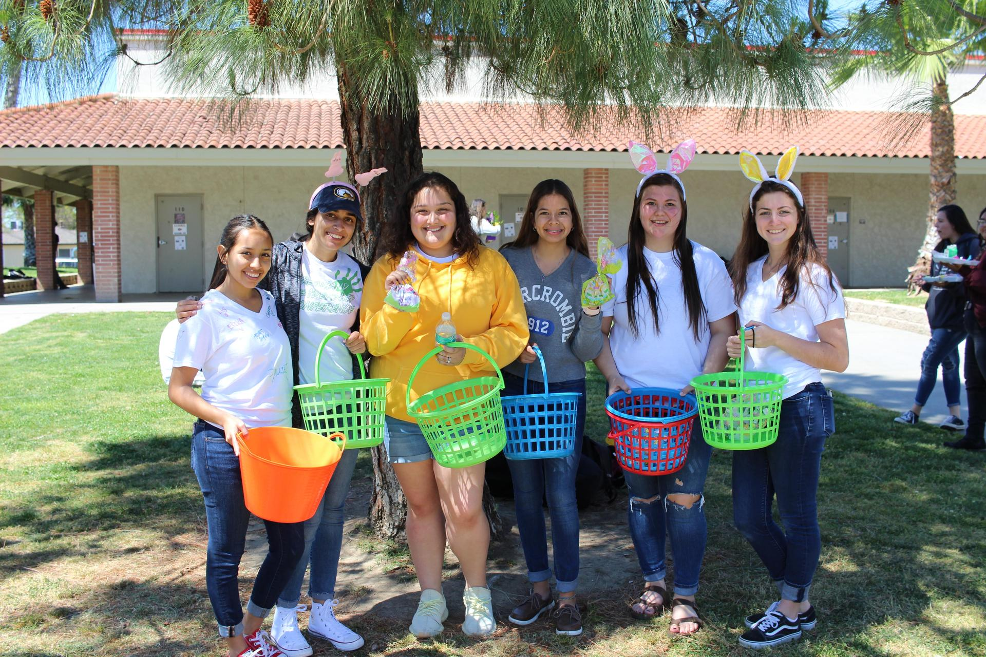 ASB handing out bags of Easter Candy