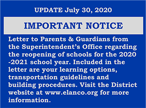 Important Notice Banner -Reopening Schools