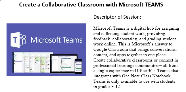 TEAMS - A Blended Learning Container – Melinda Reed – Oakland Middle