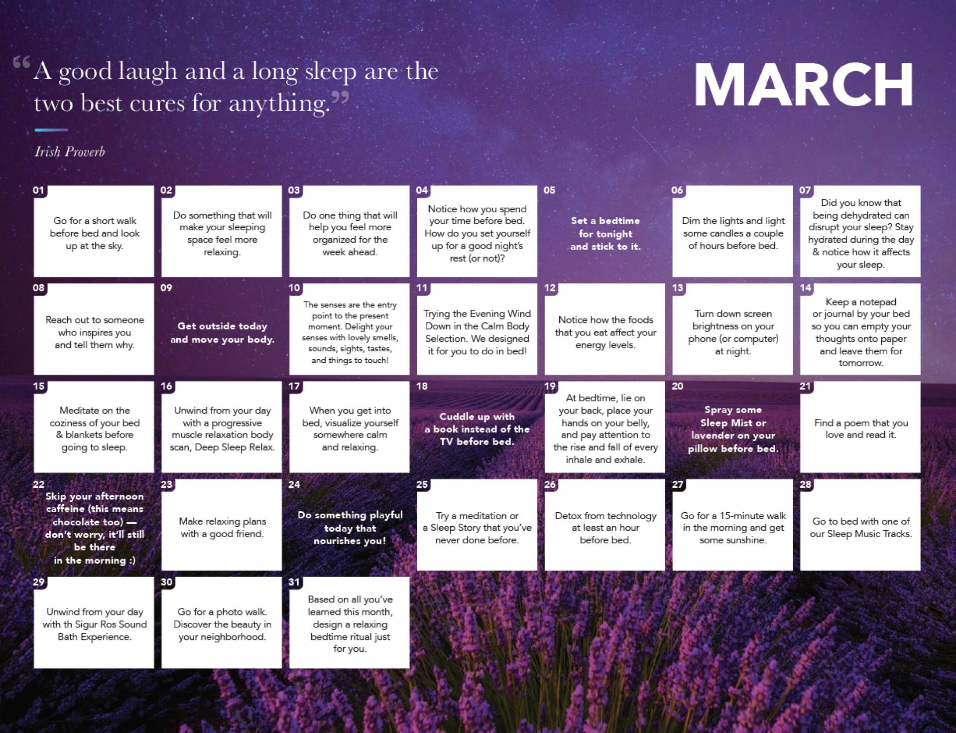Calm Calendar