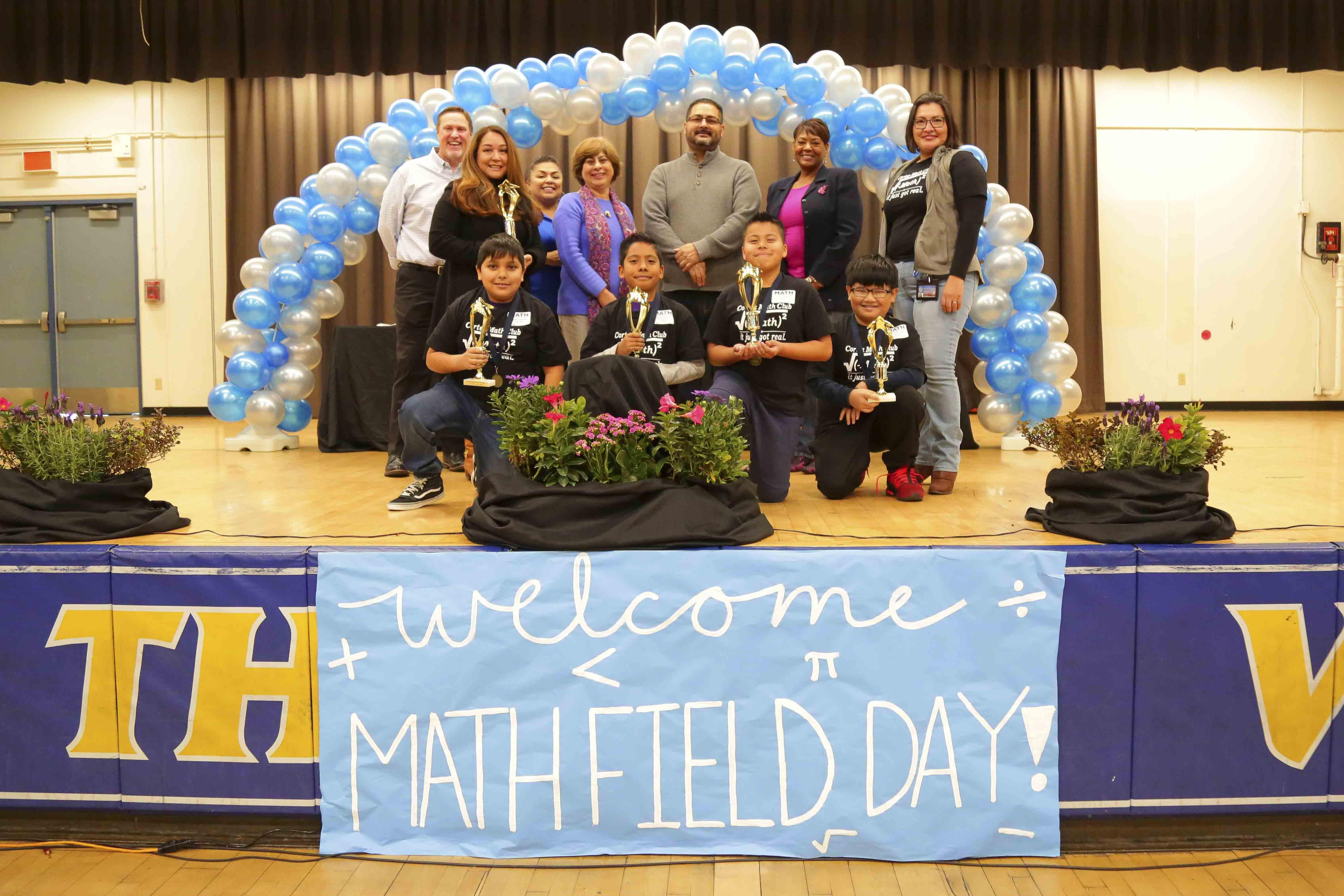 Cortez 8th Grade students take 2nd Place at the Math Field Day -