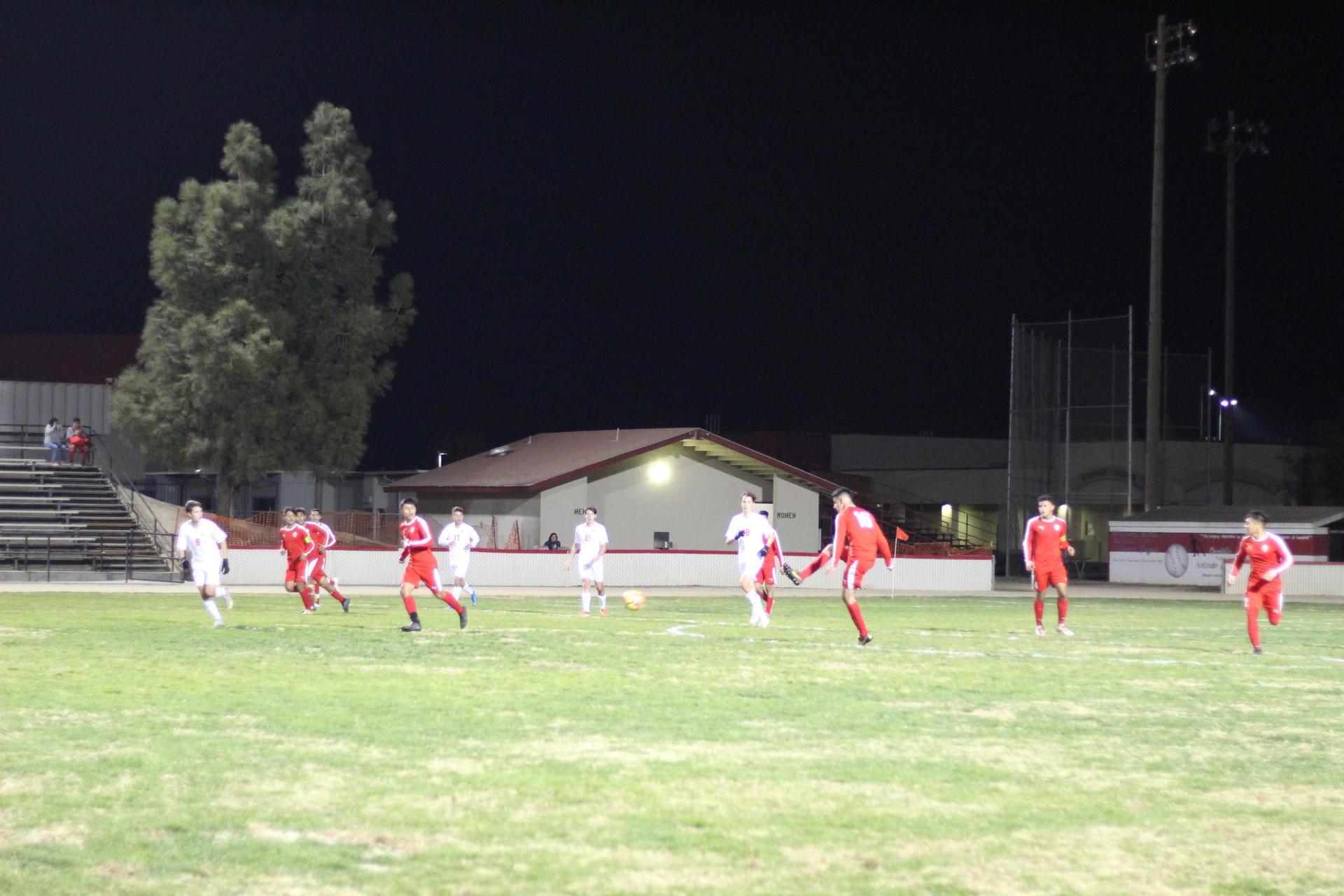 Christian Fernandez kicking the ball