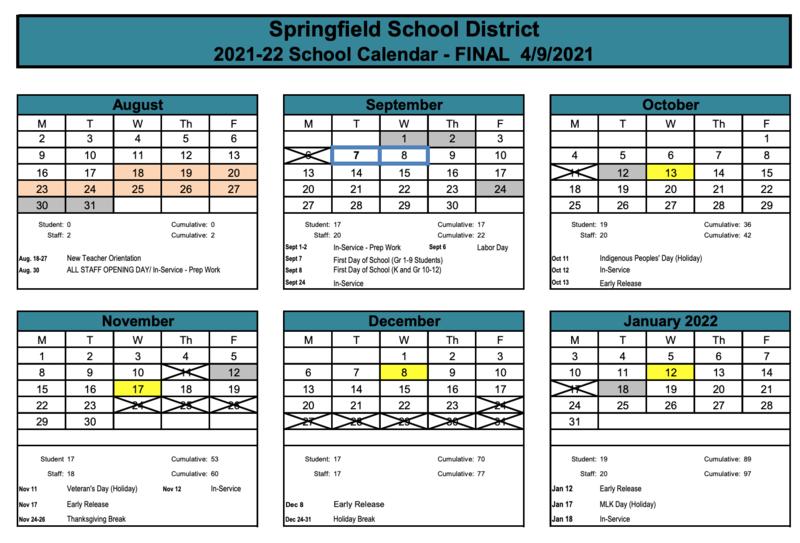 New 2021-2022 School Calendar Released Featured Photo