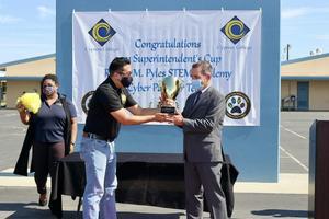 Dr. Donavan Receives Superintendent's Cup