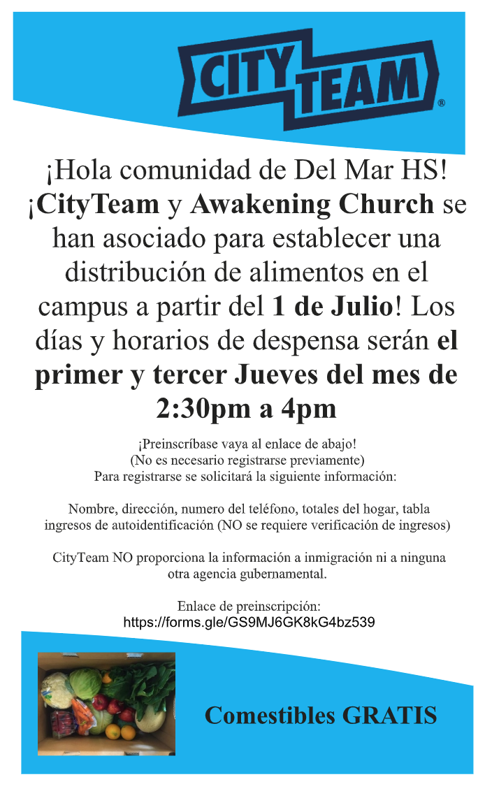 mobile food pantry info flyer in spanish