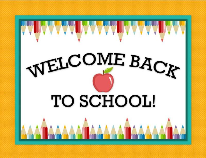WELCOME BACK TO SCHOOL!!!! Featured Photo