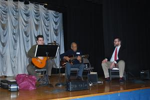 Jazz Legend Battiste playing for students