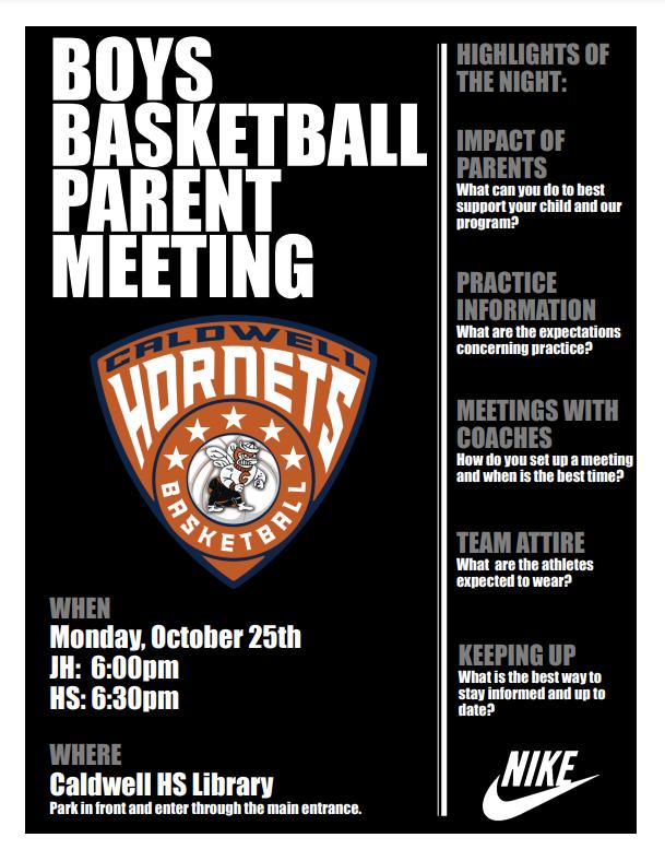 Boys Basketball Parent Meeting Featured Photo