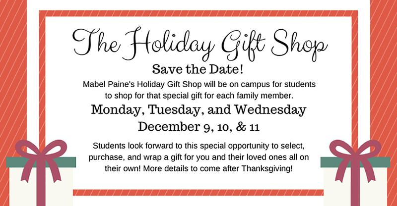 Annual Holiday Gift Shop Returns December 9 - 11
