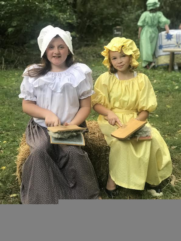 Students dressed as Pioneers.