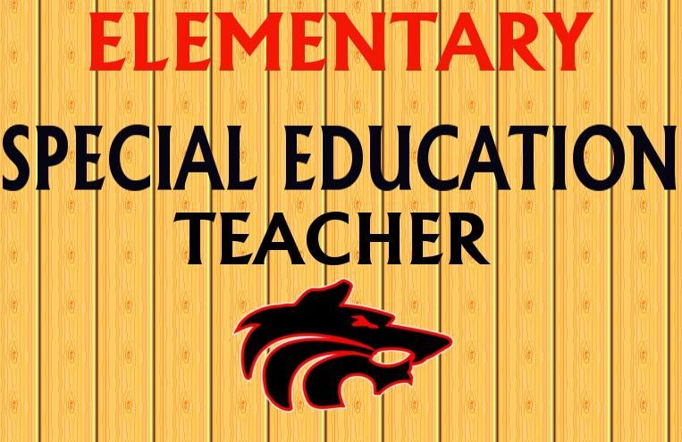Special Education Teacher with Wolf Logo