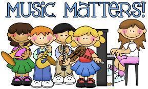 Students Holding Sign: Music Matters